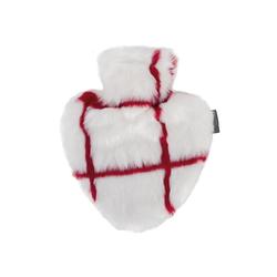 Fashy Wärmflasche Wärmflasche Herzform Bezug Fellimitat Weiß Rot Herz Herzwärmflasche Fashy 6525