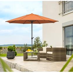Schneider Schirme Sonnenschirm Adria, ohne Schirmständer rot Sonnenschirme -segel Gartenmöbel Gartendeko