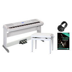 Yamaha DGX-660WH Portable Piano Set weiß