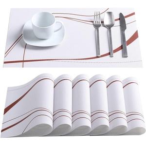 VEWEET, Tischset Serie 'Bonnie', PVC Platzset, 6-teilig Set Tischmatte, Tischset für 6 Personen, Pflegeleicht
