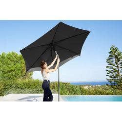 garten gut Sonnenschirm, ohne Schirmständer grau Sonnenschirme -segel Gartenmöbel Gartendeko Sonnenschirm