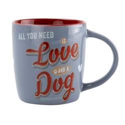 Nostalgic Art Kaffeebecher Love Dog bunt, Höhe: ca. 9 cm, Durchmesser:  ca. 8,5 cm - ca. 330 ml