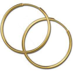 GoldDream Paar Creolen D2GDOB00132K GoldDream Echtgold Ohrringe Creolen (Creolen), Damen Creolen Ohrring aus 333 Gelbgold - 8 Karat, Ø 32mm