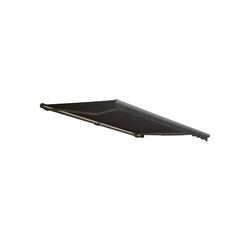 MCW Kassettenmarkise H122-4x3-V Winkel der Markise von 0° bis 35° stufenlos einstellbar, Vollkassette bietet Schutz grau