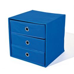 ebuy24 Kommode Wissy Kommode Stoff Kommode, faltbar, blau.