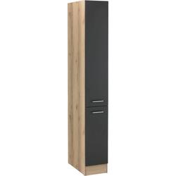 OPTIFIT Apothekerschrank Iver Breite 30 cm, mit 2 Auszügen, 5 Ablagen grau