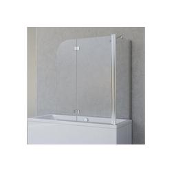 Schulte Badewannenfaltwand Angle, 5 mm ESG, (3 tlg), 2-teilig (112 x 142 cm) mit Seitenwand 112 cm x 142 cm x 75 cm