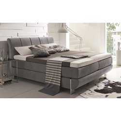HAPO Boxspringbett Ronda in anthrazit
