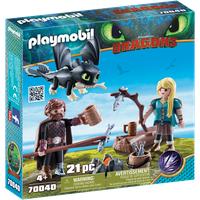 Playmobil Dragons Hicks und Astrid mit Babydrachen (70040)