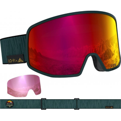 SALOMON LO FI SIGMA Schneebrille 2021 green/uni pop red