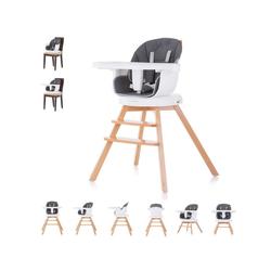 Chipolino Hochstuhl Hochstuhl 2 in 1 Rotto, Kinderstuhl, drehbarer Sitz, Höhe verstellbar grau