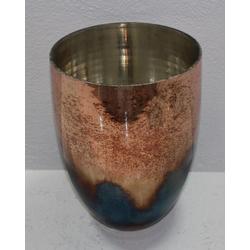 Vase BURN rosa(DH 18x25 cm)