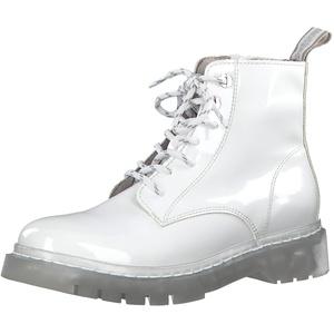 Tamaris Damen Stiefel 25206-34, Frauen Schnürstiefel, lose Einlage, Freizeit leger Boots Combat schnürung weibliche Lady Ladies,White,40 EU / 6.5 UK