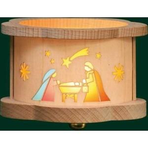 Teelichtlaterne Heilige Familie, Erzgebirge Richard Glässer Seiffen, 04388