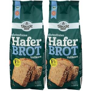Bauckhof Haferbrot Vollkorn Bakmischung, glutenfrei 2X500 g Pulver