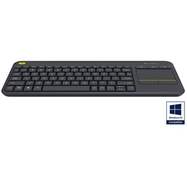 Logitech K400 Plus Wireless Touch Keyboard DE schwarz 920-007127