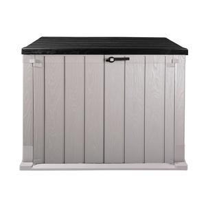 Ondis24 Mülltonnenbox Gartenbox Storer Gerätebox abschließbar für 2 Mülltonnen (1330 Liter, Anthrazit Grau)
