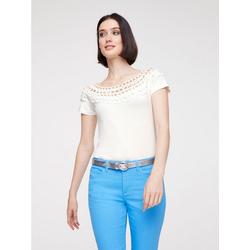 Shirt mit Cutouts weiß 44