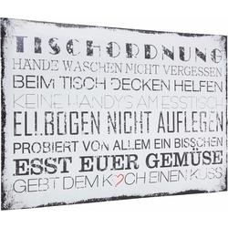 Poster »Tischordnung«, Bilder, 436946-0 weiß 90x60 cm weiß