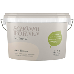 SCHÖNER WOHNEN-Kollektion Wand- und Deckenfarbe Naturell Sandbeige, sandbeige, 2,5 l