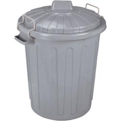 CURVER Oscar-Tonne Aufbewahrungstonne, 23 Liter, Mülltonne aus Kunststoff, Farbe: grau