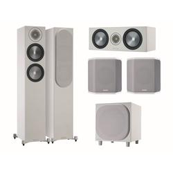 MONITOR AUDIO Bronze 6G Cinema 200 weiß/grau Lautsprecher-Set 5.1 5.1 Soundsystem (5.1 Heimkino Set)