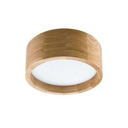 Licht-Erlebnisse Deckenleuchte KAYA LED Deckenlampe Holz Glas rund blendarm Wohnzimmer Flurleuchte Lampe
