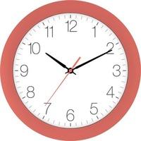 EUROTIME 88800-01-1 Quarz Wanduhr 30cm x 4.5cm Apricot Schleichendes Uhrwerk (lautlos)