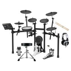 Roland TD-17K-L V-Drum Kit Set inkl. Hocker, Sticks, Fußmaschine & Kopfhörer