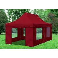 Stabilezelte Faltpavillon Premium 3 x 6 m bordeaux