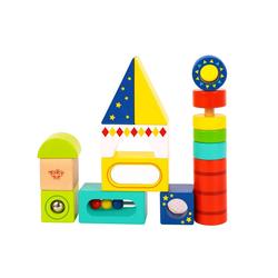 Tooky Toy Lernspielzeug Tooky Toy Multifunktions-Holzbausteine Lernspiel mit speziellen Holzklötzen