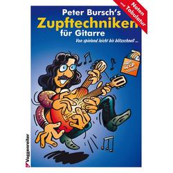 Peter Bursch's Zupftechniken für Gitarre als Buch von Peter Bursch