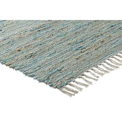 Teppich mit Naturfaser grün ca. 70/140 cm