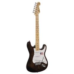 SX E-Gitarre SST American Swamp Ash - schwarz