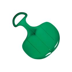elasto Rutscher Standard, Poporutscher mit Griff, Hochwertiger Schneerutscher aus Kunststoff Made in Germany, Schlitten, Rutscher für groß und klein grün