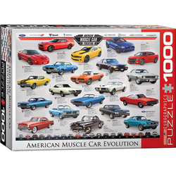 empireposter Puzzle American Muscle Car Evolution - 1000 Teile Puzzle im Format 68x48 cm, Puzzleteile