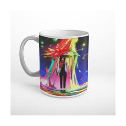 DesFoli Tasse Regenbogen Regen Regenschirm Fantasy T1030, Keramik