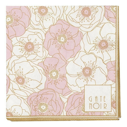 Greengate Stoffserviette Gate Noir GreenGate Servietten Flori Pale Pink klein