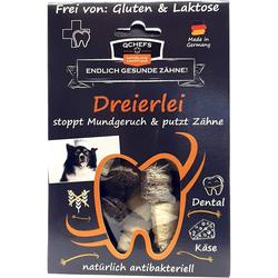 QCHEFS Dreierlei Käsesnacks - stoppt Mundgeruch & Zahnbelag - ca. 30 Stück