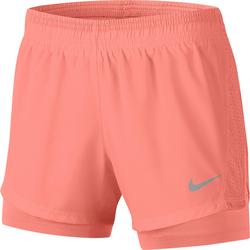Nike 2IN1 Funktionsshorts Damen in bright mango-bright mango-wolf grey, Größe L bright mango-bright mango-wolf grey L