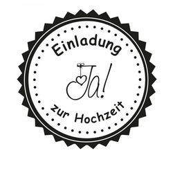 Hochzeitsstempel - Einladung - JA (Ø 50 mm)