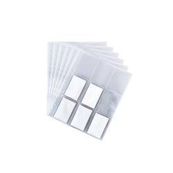 BigDean Schutzhülle 50 DIN−A4 Seiten Sammelkarten−Hüllen − 450 Fächer − Made in Germany − transparent − Sammelkarten−Album Trading Card Folien Ordner Mappe Sammelalbum für Karten