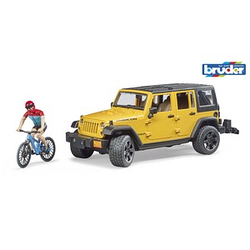 bruder    Jeep Wrangler Rubicon Unlimited mit Mountainbike Spielzeugauto