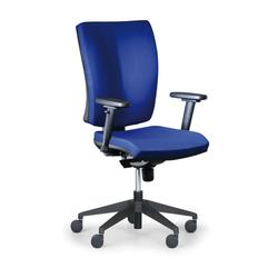 Bürostuhl leon plus, blau, mit armlehnen