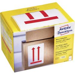 Avery-Zweckform 7250 Etiketten Rolle 74 x 100mm Papier Rot 200 St. Warnetiketten