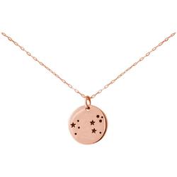 Gemshine Kette mit Anhänger Horoskop Sternzeichen Leo Löwe, Made in Spain rosa