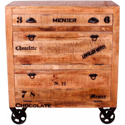 SIT Schuhschrank Rustic im Factory Design, Breite 82 cm, Shabby Chic, Vintage