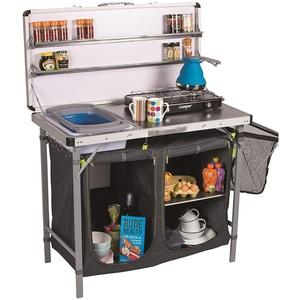 Chieftain Profi Tragbare Camping Küche XL Arbeitsplatte, Spülbecken und Gewürzregal