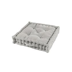 One Home Sitzkissen solid, Bodenkissen mit Tragegriff grau