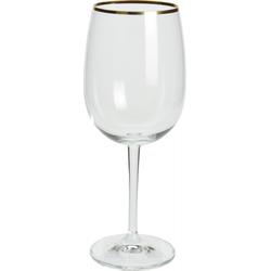 Weinglas mit Goldrand